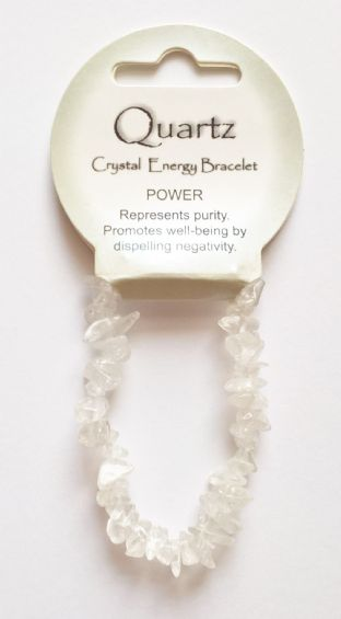 Crystal Energy - Quartz - Power - Gemstone Chip Bracelet